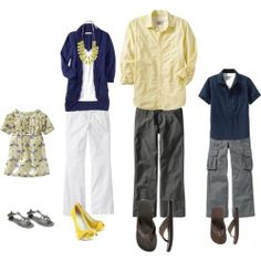 Spring Family Photo Outfits for my make-believe family. Family Portraits What To Wear, Family Portrait Outfits, Family Picture Colors, Family Picture Outfits, Spring Family Pictures, Family Pics, Spring Pics, Kid Pics, Summer Pics