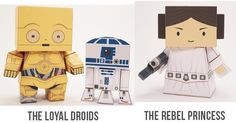 PAPERMAU: Star Wars - Princess Leia, C-3PO, R2-D2, Finn, Rey And BB-8Paper Toys by Cubefold