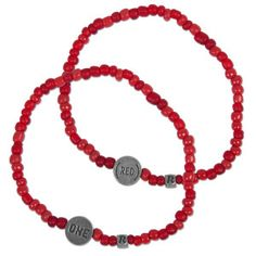 ONE and (RED) Beaded Bracelets.  One.org sells these for $5 and they are HANDMADE in South Africa  by Relate, a non-profit helping those affected by AIDS.  One dollar of each purchase goes to the Global Fund.