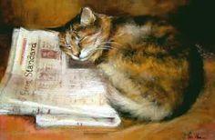 Evening Standard, Artist: Jill van Hoorn ~Repinned Via Marsha Langaard