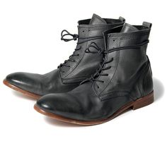 Men's Swathmore (Grey) Leather Ankle Boots | H Shoes