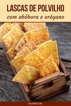 Lascas de polvilho com abóbora e orégano - Confira a receita dessas lascas que são uma ótima opção para um lanche saudável e delicioso.