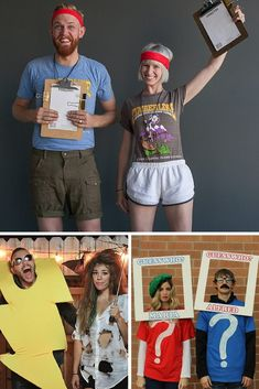 DIY Halloween Costumes For Couples: If you're in the mood to dress up with your spouse this year, here are a few ideas that are prize-worth in themselves! Halloween This Year, Happy Halloween, Diy Halloween Costumes, Halloween Crafts, Best Couples Costumes, Diy Craft Projects, Christmas Sweaters, Dress Up, Mom