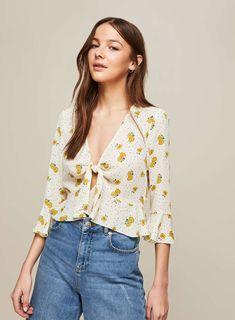 bc74cb69faf59 Ochre Ditsy Floral Blouse Ditsy Floral