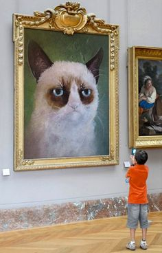 Grumpy art.