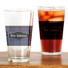 Clan Anderson Banner Drinking Glass on CafePress.com