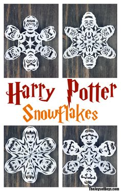Harry Potter Snowflakes!!! These are amazing! Links to templates to make your favorite Harry Potter characters.