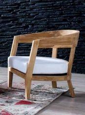 Poltrone di legno naturale: modello PESCARA