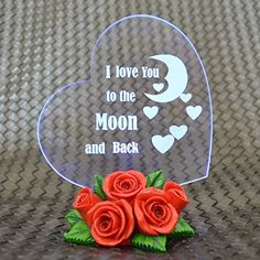 Giftgarden Wedding Cake Toppers - I Love You to the Moon and Back - Heart Shaped with LED Light - Gift for Sweetheart, Wife, Husband, Boyfriend, Girlfriend, Mother, Grandma Decoration Gift Garden http://www.amazon.com/dp/B013B4THEG/ref=cm_sw_r_pi_dp_6KhYwb13DSJPG