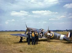 Spitfire in England One of the best wartime colour images I have seen, depicting an early mk.II or III most probibaly during the summer of 1940