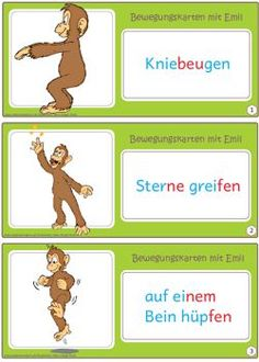 Now there are also small movement cards for the children's hand. Here the Versi . Classroom Organization, Classroom Management, Brain Gym Exercises, Move To Learn, Pediatric Ot, Special Education Teacher, Kids Hands, Teacher Hacks, Teaching Materials