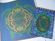 Pattern - Geometric Turtle Beaded Tapestry for Square Stitch on Etsy, $6.00