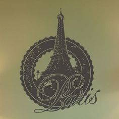 "Style and Apply Paris Wall Decal Size: 31"" H x 24"" W, Color: Yellow"