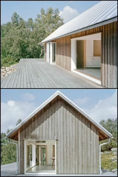 The Owners Of This Home Lasted Simplicity And Very Low Maintenance As The Major . - The Owners Of This Home Lasted Simplicity And Very Low Maintenance As The Major Design Objectives - Eco Casas, Future House, Modern Barn House, Modern Wooden House, Wooden House Design, Wooden Houses, Rural House, House Plans, New Homes