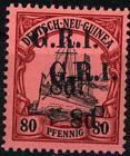 8 d auf 80 Pf / Neu-Guinea GRI - Mi 11 II DD 3500  signed Jäschke-L BPP