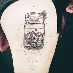 My beautiful gemstone terrarium, with my little snail friend! Done by Kaia Holbrook at Story of My Life Tattoo Co. in Ft. Collins, CO.