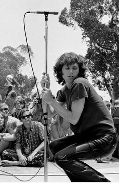 Jim Morrison of the Doors in concert.