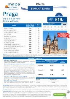 Praga- Semana Santa desde Valencia**Precio final desde 519** ultimo minuto - http://zocotours.com/praga-semana-santa-desde-valenciaprecio-final-desde-519-ultimo-minuto-4/