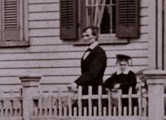 pictorialpress: I don't have a date on this, but here is a fantastic photograph of Abraham Lincoln at his Springfield home. Black Presidents, American Presidents, American Civil War, Abraham Lincoln Family, Lincoln Life, Presidential Portraits, Dark Complexion, Gray Eyes, Historical Pictures