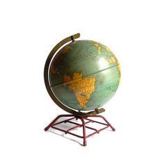 #Vintage Replogie Steel Globe  1940s by aestheticallyantique, $85.00 #homedecor