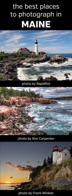 The Best Places to Photograph in Maine. Landscape, nature, photography, photos, planning, scouting, destinations, locations, map, rocky coast, New England, lighthouses, Acadia National Park, Bass Harbor Head Light, Cadillac Mountain, Jordan Pond, Boulder Beach, Baxter State Park, Screw Auger Falls, Camden Hills, Cutler Coast, Portland Head, Monhegan Island, Gulf Hagas, Coastal Islands National Wildlife Refuge, Rachel Carson, Cape Elizabeth, #maine, #photography, #landscapephotography