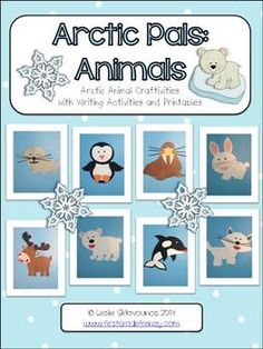 Have you met the Arctic Pals? Your students will love meeting polar bear, penguin, seal, Arctic hare, whale, caribou, walrus, and Arctic fox! These are very simple Arctic animal craftivities, that your students will enjoy creating and making on their own. $5.00