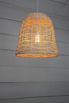Enhance your home with a natural look with the Rattan Bell Pendant Light. This handmade light has a natural rattan shade in a classic bell shape. White Ceiling, Woven Shades, Light, Handmade Lighting, Large Pendant Lighting, Rattan Shades, Pendant Light, Bell Pendant, Ceiling Rose
