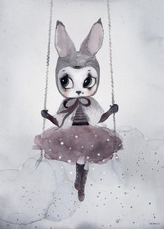 Nordic Decoration Girl Wall Art Canvas Painting Rabbit Posters And Prints Wall Prints Nursery Wall Pictures Cuadros No Frame Kids Prints, Canvas Art Prints, Canvas Wall Art, Wall Art Prints, Reproductions Murales, Art Mignon, Canvas Pictures, Wall Pictures, Print Poster