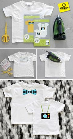 Use a Thrifted White Tee to Create a Homemade DIY Customized Graphic Tee via @I Spy DIY