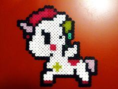 cute unicorn perler fuse bead design