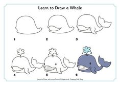 Learn to draw a whale