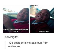 accidentally steals cup