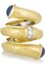 David Webb18-karat gold, sapphire and diamond | cynthia reccord