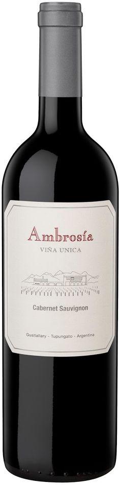 """""""Ambrosía Viña Única"""" 95% Cabernet Sauvignon 5% Malbec 2013 - Bodega Finca Ambrosía, Mendoza------------------- Terroir: Gualtallary (Tupungato)----------Crianza: 18 meses en barricas de roble francés"""