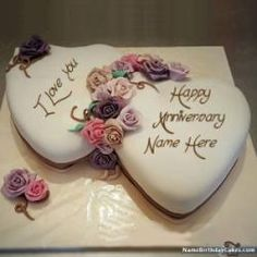 Bhupinder Singh Randhawa Romantic Happy Anniversary Images With Name Happy Anniversary Mom Dad, 45th Wedding Anniversary Gifts, Anniversary Cake With Photo, Happy Anniversary Cakes, Anniversary Funny, Beautiful Birthday Cakes, Happy Birthday Cakes, Romantic Birthday, Cake Birthday