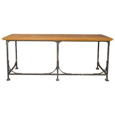 French Industrial Table | From a unique collection of antique and modern industrial and work tables at https://www.1stdibs.com/furniture/tables/industrial-work-tables/
