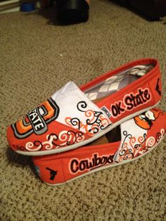 OSU Tom's from Pistols & Paisleys! She can do any team you like! https://www.facebook.com/PistolsPaisleys painted toms