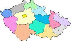 kraje české republiky - Hledat Googlem Homeschool, Diagram, Map, History, World, Creative, Beautiful, Bullet Journal, Collections