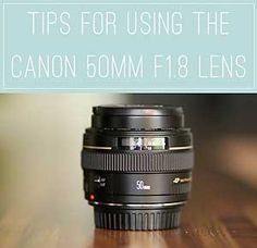 Today I'm going to share some tips for using the Canon 50mm F1.8 lens. I know that many of you will have this lens, because it's probably the one that most people go for when upgrading from their kit lens. When I first got this lens a few years ago, I would hear about the quality of it for the price and how tack-sharp my images were going to be, but they weren't, in fact every single one looked downright soft! So the lens got shoved back into my camera bag and forgotten about. But not o...