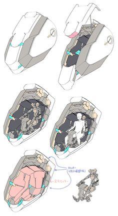 埋め込み Arte Gundam, Gundam Art, Cyberpunk, Spaceship Design, Robot Design, Robot Concept Art, Armor Concept, Science Fiction, Robots Drawing