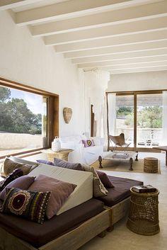 Cozy Bohemian House in Formentera, Spain Home Interior, Interior And Exterior, Interior Design, Natural Interior, Living Room Designs, Living Room Decor, Living Spaces, Bohemian House, Modern Bohemian