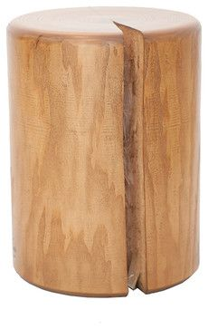 Log Stool - rustic - Side Tables & End Tables - Other Metro - Plant & Moss