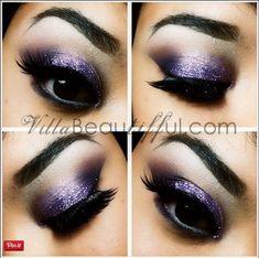 20 Mysterious Purple Smokey Makeup Tutorials 14