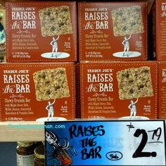 Trader Joe's | Raises the Bar | Maple | 6.2oz $2.79 | トレーダージョーズ | レイズ ザ バー グラノーラバー | #traderjoes #bar #granola #granolabar #energybar