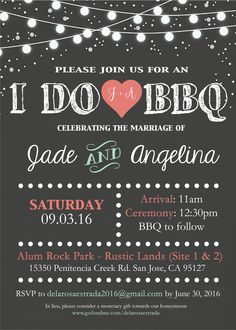 I do BBQ wedding invitation by me