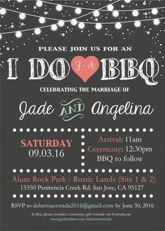 I do BBQ wedding invitation by me