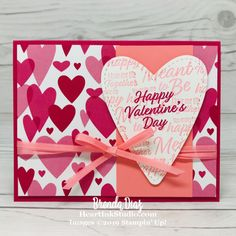 Meant To Be - Valentine's Day - Stampin Up Happy Valentines Day Card, Valentine Greeting Cards, Homemade Cards, Homemade Gifts, Church Quotes, Lds Church, Cards Diy, Card Tutorials, Valentine's Day Diy