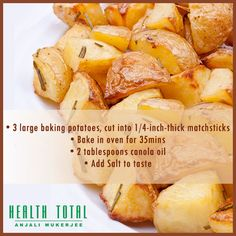 A healthy post-workout dish! Canola Oil, Health Foods, Post Workout, Sweet Potato, Oven, Potatoes, Dishes, Baking, Vegetables
