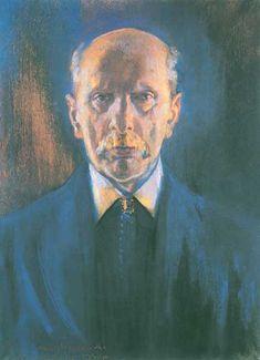 """Stanisław Wyspiański (Polish 1869–1907) """"Portrait of Kazimierz Stankiewicz"""", Cracow February 1894, pastel on cardboard, 58 x 42 cm, private collection."""