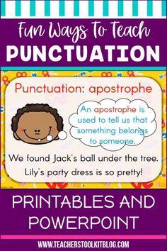 Fun Ways To Teach Punctuation - Teacher's Toolkit Blog